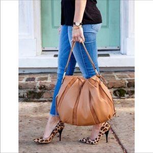 Aimee Kestenberg Pebble Leather & Suede Hobo Bag